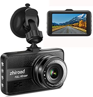 Front and Rear Cameras 170 Super Wide Angle 4 LCD and Night Vision Loop Recording,Motion Detection G Sensor,WDR,Parking Monitor KEDAY Dash Cam 1080P FHD DVRC Car Driving Recorder Black