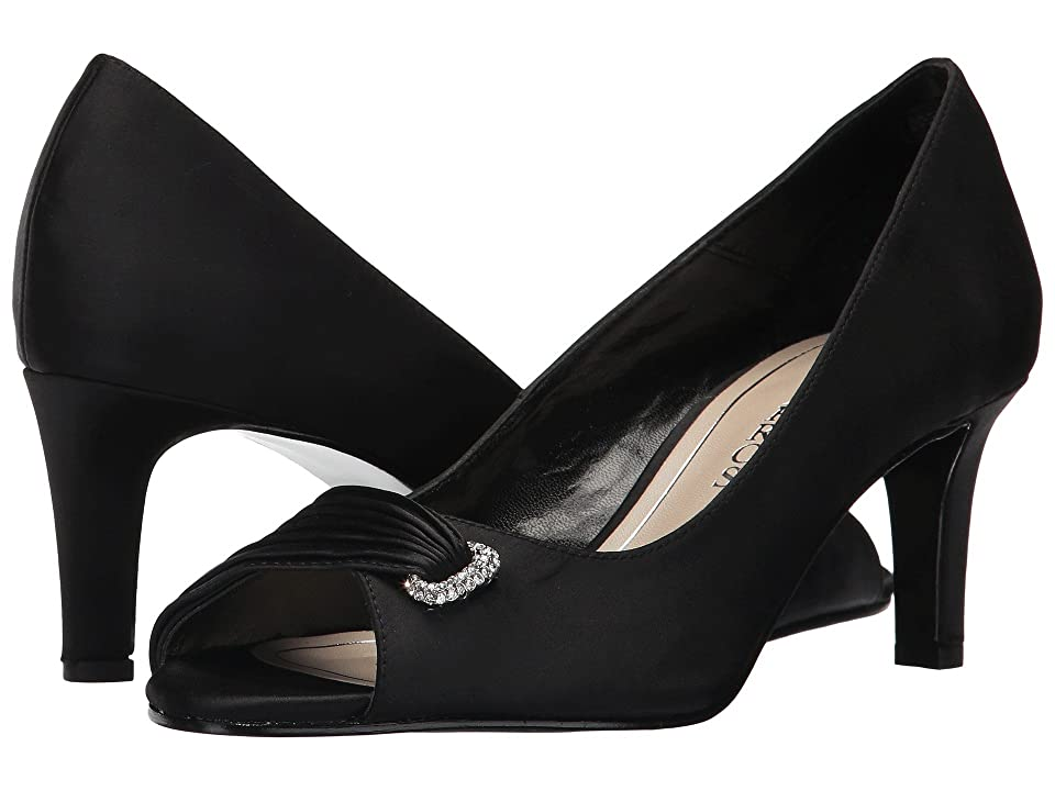 Caparros John (Black Satin) High Heels