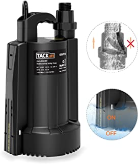 TACKLIFE Automatic Sump Pump, 1/3 HP Submersible Water Pump with Pure Copper Motor, 2550 GPH Max Flow, for Swimming pool, Garden Pond, Flood Drain