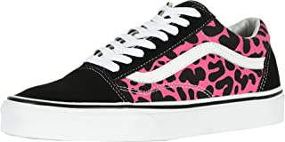 Vans Unisex Old Skool Skate Shoe (13 M US Women / 11.5 M US Men, (Leopard) Pink/Black)