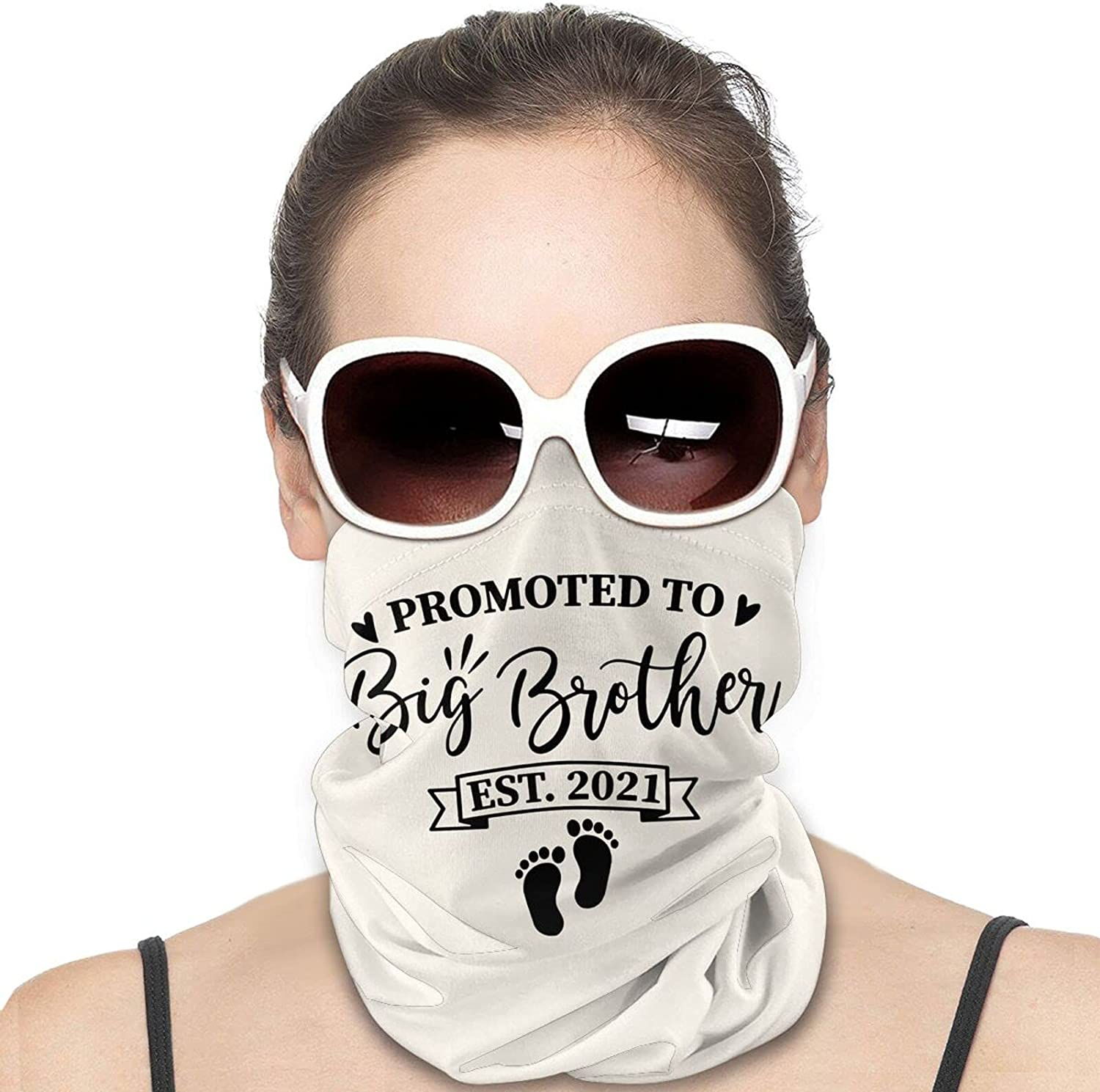 Promoted To Big Brother 2021 Round Neck Gaiter Bandnas Face Cover Uv Protection Prevent bask in Ice Scarf Headbands Perfect for Motorcycle Cycling Running Festival Raves Outdoors
