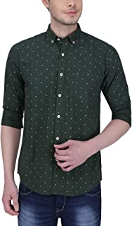 Southbay Green Cotton Printed Casual Shirt for Men