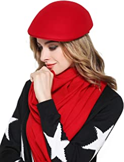 蒂芙莎 春秋款鸭舌帽女英伦时尚冬季贝蕾帽子女休闲羊毛呢礼帽前进帽