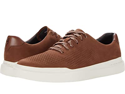 Cole Haan Grandpro Rally Laser Cut Sneaker (Chestnut Nubuck) Men