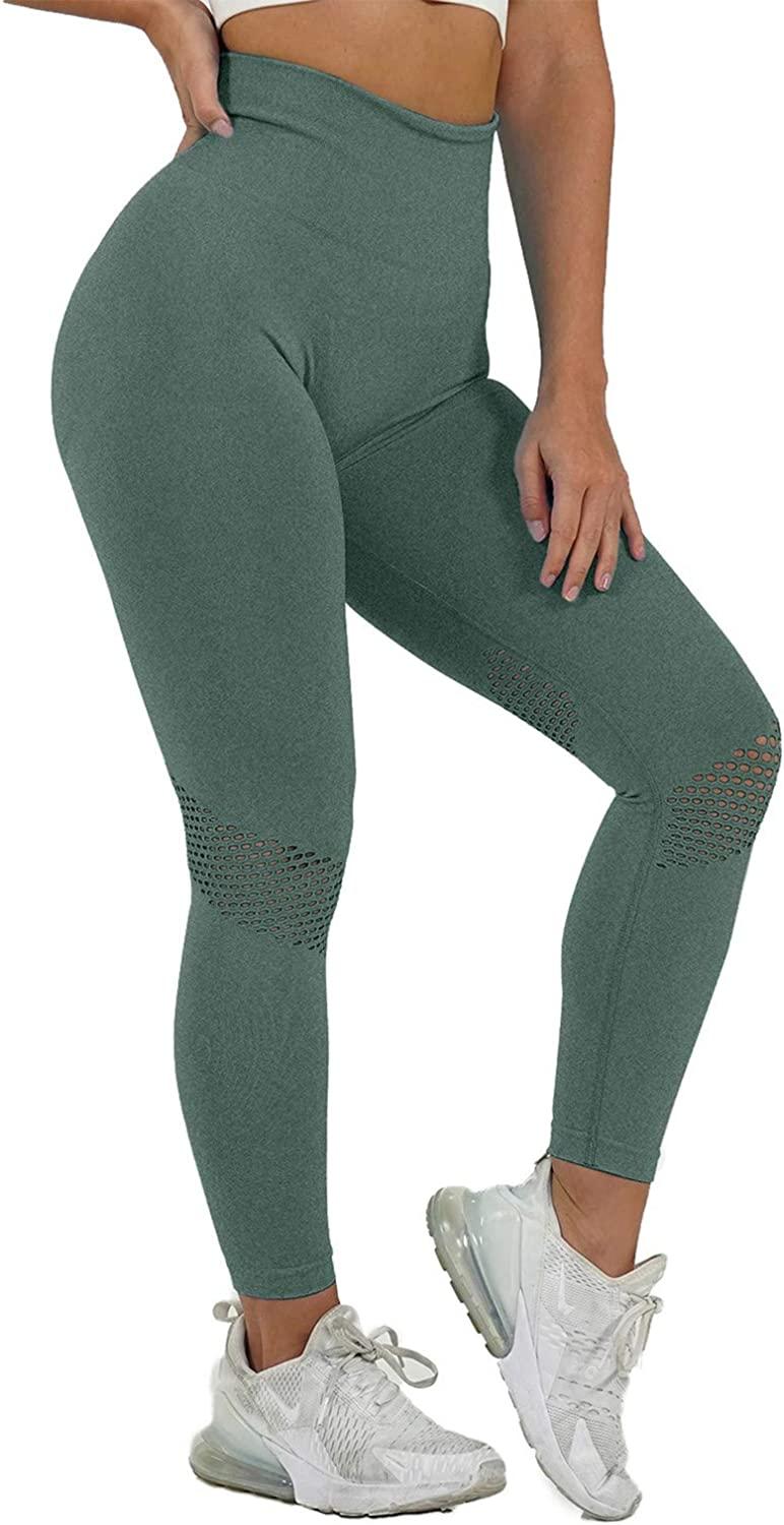 Gwewei4df Womens High Waist Colorado Springs Mall Quick-Dry PantsMesh Stitching Industry No. 1 Sports