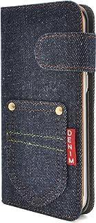PLATA Galaxy ギャラクシー S7 edge エッジ SC-02H / SCV33 用 ポケット デニム デザイン スタンド ケース ポーチ 手帳型 カバー ジーンズ