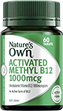 Nature's Own Activated Methyl B12 1000mcg - Mecobalamin - For Metabolic Reactions - Vegetarian, 60 Tablets