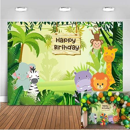 Mehofoto Dschungelsafari Hintergrund 7x5ft Waldtiere Kamera