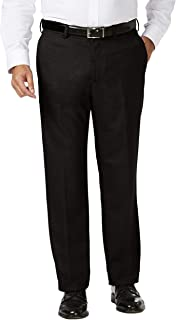 Haggar Men's Big and Tall J.m Expandable Waist Classic Fit Flat Front Pant