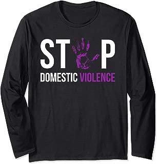 Stop Domestic Violence Awareness Survivor Gift Design Long Sleeve T-Shirt