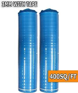 AMERIQUE 691322306255 400SQFT Premium 3MM Thick Super Quiet Floor Underlayment Padding with Tape & Vapor Barrier 3-in-1 Heavy Duty, 400 SQFT, Royal Blue, 400 SQFT