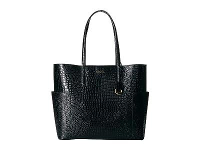 LAUREN Ralph Lauren Dryden Carlyle 36 Tote (Black) Handbags