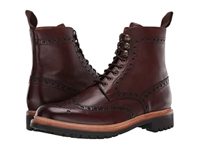 Grenson Fred Commando Sole Boot (Dark Brown Hand Painted Calf) Men