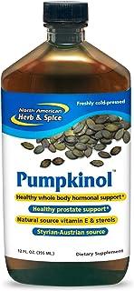 North American Herb & Spice Pumpkinol - 12 fl. oz. - Healthy Hormone & Prostate Support - Natural Source of Vitamin E & St...