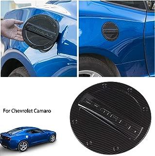 Savadicar Camaro Gas Cap Cover Fuel Tank Door Exterior Trim Accessories for 2016+ 6th Gen Chevrolet Camaro, Non Fading, Powder Coated Steel, Black