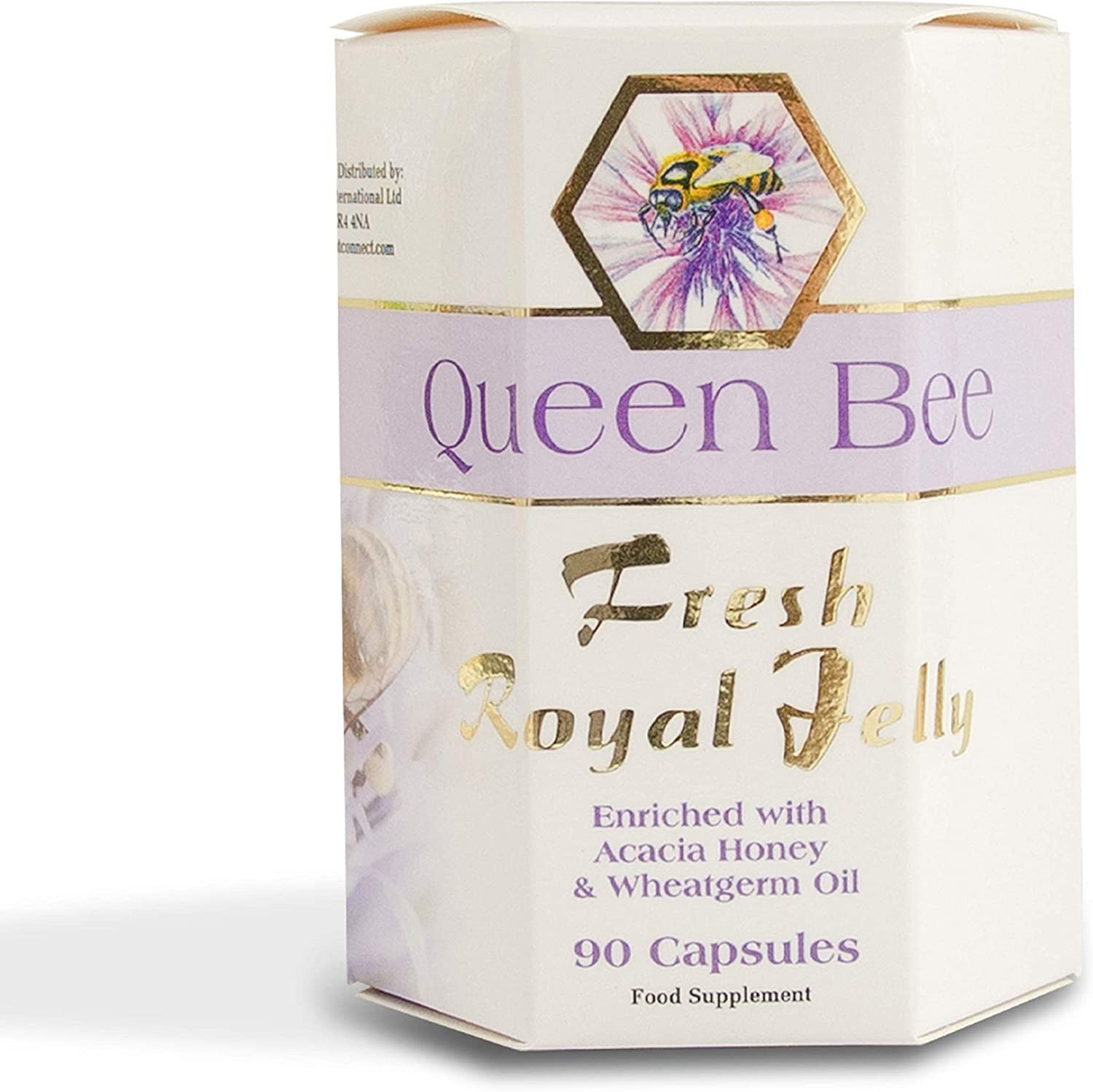 100% Pure Fresh Royal Jelly Year-end annual account Queen Capsules with Bee half Enriched