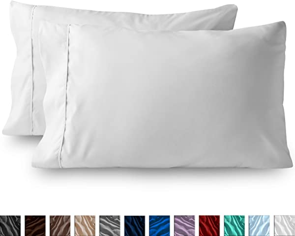 Bare Home Premium 1800 Ultra Soft Microfiber Pillowcase Set Double Brushed Hypoallergenic Wrinkle Resistant Standard Pillowcase Set Of 2 White