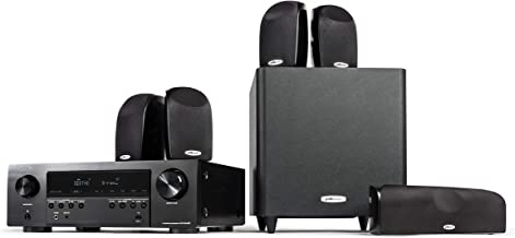 Polk Audio Blackstone TL1600 5.1 Channel Compact Home Theater System with Denon AVR-S540BT Receiver | 7 Items - 4 TL1 Satellite Speakers, 1 Center Channel, 8