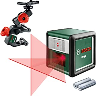 comprar comparacion Bosch Quigo 3 - Nivel láser en cruz (2 pilas de 1.5 V AAA, pinza MM2, alcance: 10 m, precisión: ± 0,8 mm/m)
