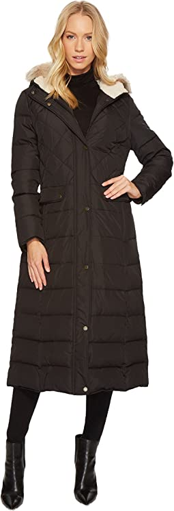 LAUREN Ralph Lauren - Diamond Quilt Military Maxi Down