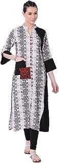 Lagi Multi Designer Women Straight Multi Design Printed Kurti for Women Tunic Top