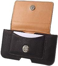 DFV mobile - Leather Horizontal Belt Clip Case with Card Holder for Oppo R819 - Black
