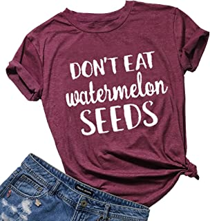 10b50269d727e Don't Eat Watermelon Seeds Maternity T Shirt Women Funny Pegnancy  Announcement Shirts Tops