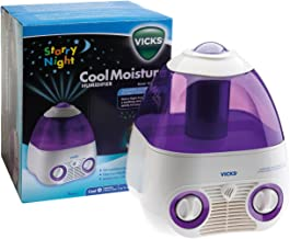 Vicks Starry Night Cool Moisture Humidifier | Self-regulating Evaporative System, Filters Impurities From The Water, Calming Environment to help your child sleep