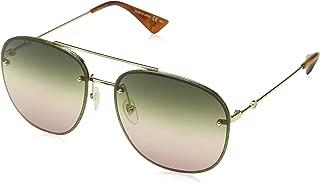 Gucci Women's Square Aviator non-polarized Rectangular Sunglasses, Multi Color, 62