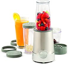 BELLA Personal Size Rocket Blender, Perfect for Smoothies, Shakes & Healthy Drinks, Easy Grinding, Chopping & Food Prep, 2...