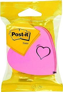 Post-it - L1032 - Note fantaisie - Forme cœur - 225 feuilles - Rose