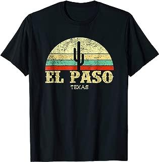 Retro El Paso Texas City T-Shirt Vintage Lone Star State Tee