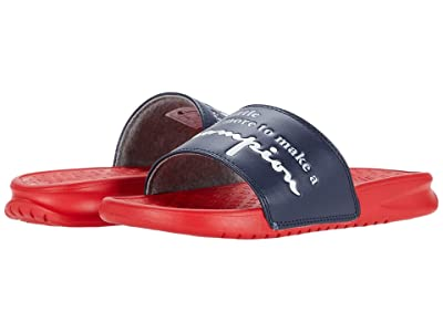 Champion Kids Super Slide More (Little Kid) (Navy/Scarlet) Kid