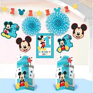 Amscan Mickey Mouse 1st Birthday Room Decorating Kit 10 Count Party Supplies Mickey Fun to be
