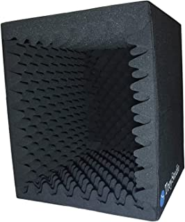 TroyStudio Portable Sound Recording Vocal Booth Box - |Reflection Filter & Microphone Isolation Shied| - |Large, Foldable,...