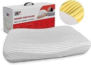 JSLER memory foam pillow orthopedic ergonomic cervical pillow for neck pain best pillow for side sleepers anti snore pillo...