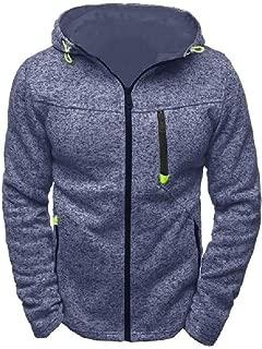 Mogogo Men's Luxury Long Sleeve Vogue Zipper with Hood Casual Sweatshirt Coat