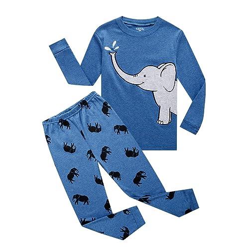 c4119af94a526 Family Feeling Truck Little Boys Kids Pajamas Sets 100% Cotton Pjs Toddler