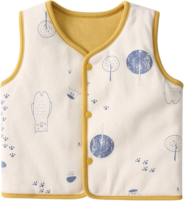 pureborn Baby Warm Sleeveless Jacket Vest Spring Winter Children Waistcoat 0-4 Years: Clothing