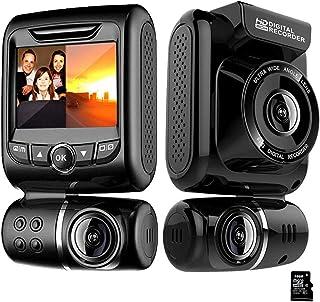 Dashcam Auto, MANLI Dashcam Autokamera1080P Full HD Auto Kamera mit Rückfahrkamera, Parkhilfe, ADAS, Super Nachtsicht, Loop Aufnahme, G Sensor LCD Anzeige(Mit 32 GB SD Karte)