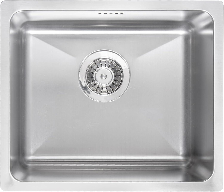 Einbauspüle Edelstahl Spülbecken Küchenspüle Edelstahlspüle Waschbecken  EGERIA  44cm x 38cm ZPE 010A