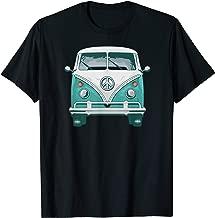 Hippie Surf Van T-shirt Retro Teal Beach Surfer Van Tshirt