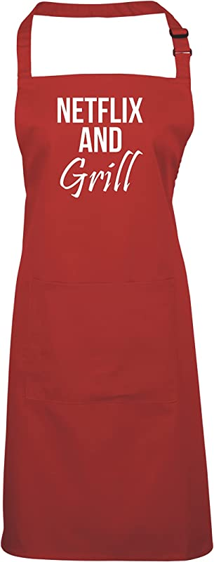 Edward Sinclair Netflix And Grill Apron One Size Red