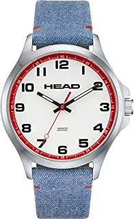HEAD Unisex-Adult Quartz Watch, Analog Display and Textile Strap HE-008-01