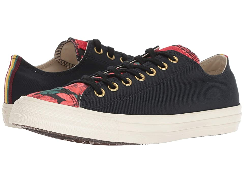 Converse Chuck Taylor All Star Parkway Floral Ox (Black/Cherry Red/Egret) Women