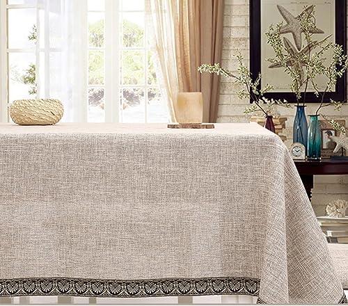 Leinen Tabelle Tuchgewebe  Japanese-Style aus Baumwolle und Leinen Tischdecken  einfachen Stil Tischdecke  moderner Couchtisch Tischdecke-C 150x220cm(59x87inch)