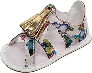 ボコダダ(Vocodada)サンダル 女の子 男の子 ビーチサンダル キッズ 子供靴 通気 軽量 可愛い キッズシューズ 履きやすい 夏用 通学 ビーチ マジックテープ ソフトボトム タッセル キラキラ お花柄