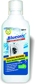 BLUEOXY Washing Machine Cleans, Descales and Disinfects, 500 ml, Pack of 4