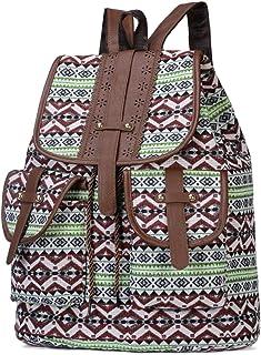 Daily School Travel Backpack Green Brown Women Shoulder Bag- New