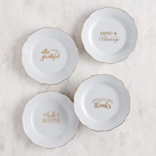 Pier 1 Imports Give Thanks Appetizer Plate- Set of 4
